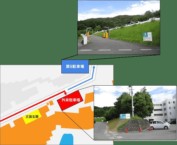 外来駐車場地図